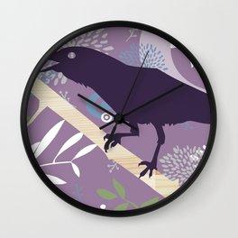 Crow Wall Clock