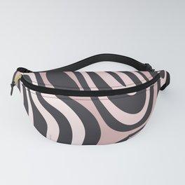 Zebra Stripess Pink & Black Pattern Fanny Pack