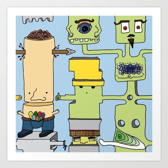 Spaghetti monster Art Print