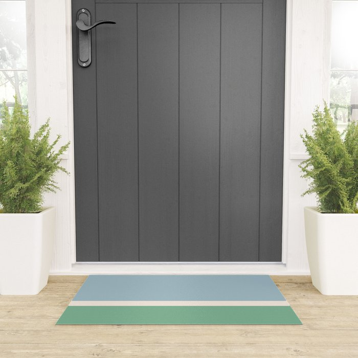 Juniper Color Block Welcome Mat