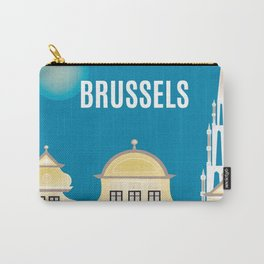 Brussels, Belgium - Skyline Illustration by Loose Petals Carry-All Pouch