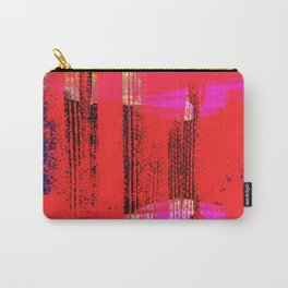 Red Pink and Blue Grunge Abstract Carry-All Pouch
