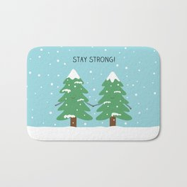 love keeps us strong Bath Mat