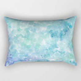 Blue Watercolor Background Rectangular Pillow