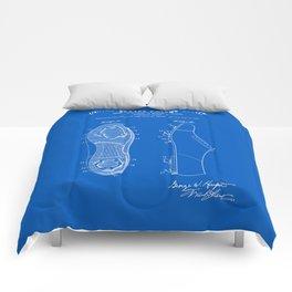Baseball Cleat Patent - Blueprint Comforters