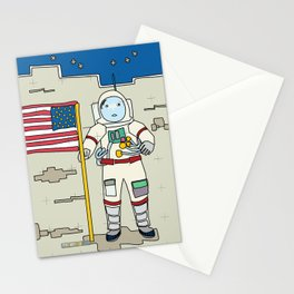 Moon Astronaut 1969 Stationery Cards