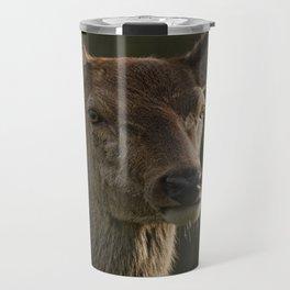 Portrait Of A Wild Red Deer Travel Mug