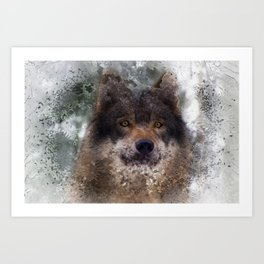 Ragnar - Noble Wolf Art Print
