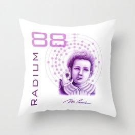 Marie Curie, Breaker of Gender Stereotype in Science Throw Pillow