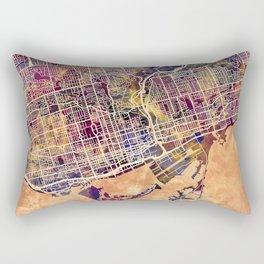 Toronto Canada Street Map Rectangular Pillow