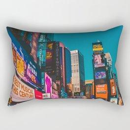 City Lights NYC (Color) Rectangular Pillow