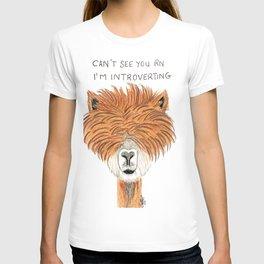 Introvert llama T-shirt