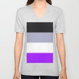 Asexual Pride Flag v2 Unisex V-Neck