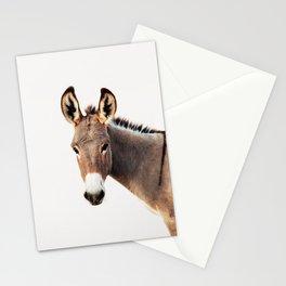 Gentle Wild Donkey portrait Stationery Cards
