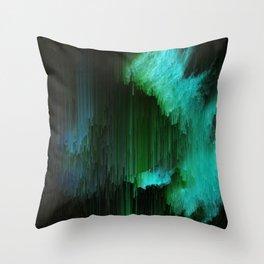 Aurora Borealis - Abstract Glitchy Pixel Art Throw Pillow