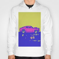 mustang Hoodies featuring lazer mustang by Crockettsky