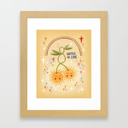 United in love Framed Art Print