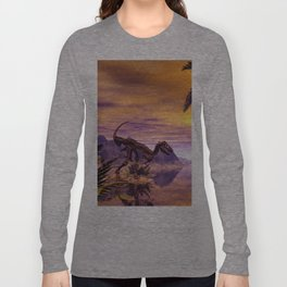 Dinosaur Skeleton Long Sleeve T-shirt