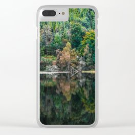 Forest Reflection Clear iPhone Case