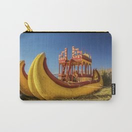 Reed boat on Floating Island of Uros Carry-All Pouch