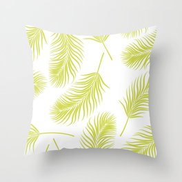 Green palm Throw Pillow