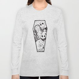 The Nightmare Before Christmas Coffin Long Sleeve T-shirt