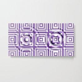 Molten Ultra Violet Metal Print