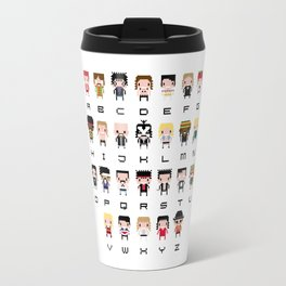 Rock Music Alphabet Travel Mug