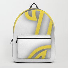 Letter N in Yellow Backpack
