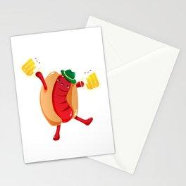 Oktoberfest German Hotdog Beer Mug Prost Stationery Cards