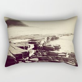 The Misty Shore Rectangular Pillow