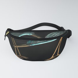 Sandpipers in Teal Blue Fanny Pack