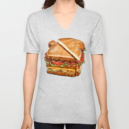 Turkey Club on White Unisex V-Neck