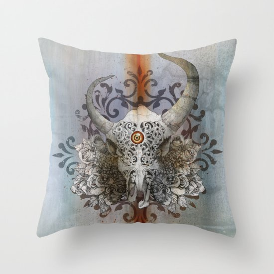 Carved Soul Throw Pillow