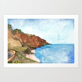 Playa del Socorro, Los Realejos, Tenerife Art Print