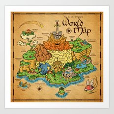 World Map - Mario RPG Art Print