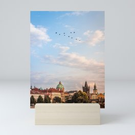 Magic in the air and the serpentine city Mini Art Print