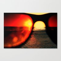 sunglasses Canvas Prints featuring Sunglasses by Nellie Harvey