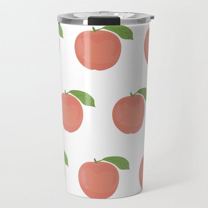 Orange Peaches Travel Mug