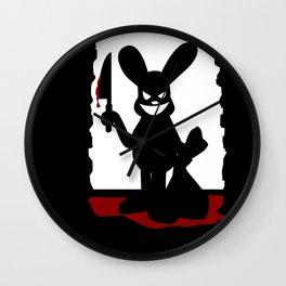 Bloody Bunny Wall Clock