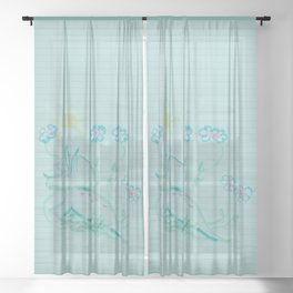 I Love You Just The Way You Are Sheer Curtain
