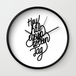 Have a great day   [black, german language] Wall Clock