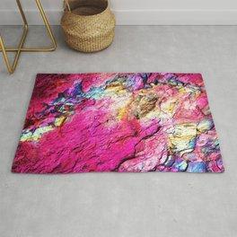 Textured Minerals Hot Pink Rainbow Rug