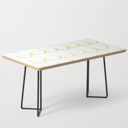 Citron Green Waves Coffee Table