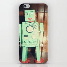 green robot! ~ mid century atomic tin toy iPhone & iPod Skin