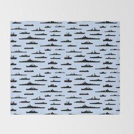 Battleship // Light Blue Throw Blanket