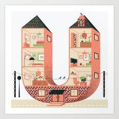 Letter U Art Print