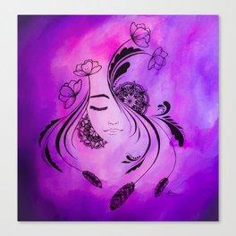 Zen Girl Canvas Print