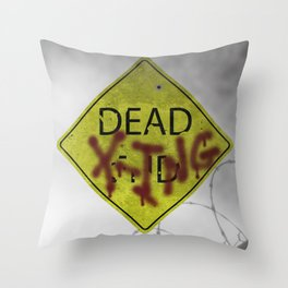 Zombie Crossing Throw Pillow