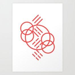 3-4-5-6_001_pink Art Print